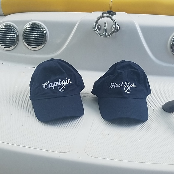 c4392548077 Accessories - Blue Captain and First Mate Caps.